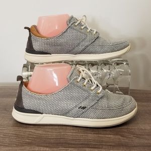 Reef Sneakers Grey & White Woven 8